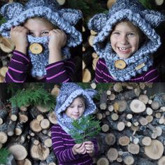 Woodland Wolf Hoodie by WintersWoolies on Etsy