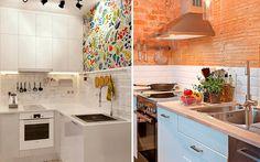 Revestimiento de frentes de cocina Living Room Kitchen, Kitchen Cabinets, Kitchens, Design, Home Decor, House Decorations, Furniture, Tiny House Kitchens, Garden Paths