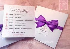 Wedding Invitation Cards with Itinerary or Timeline