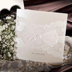 100Sets Lace Printed Wedding Invitations 100 Cards + 100 Envelopes + Seals/ 9055