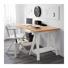 IKEA - GERTON, Table top, , Solid wood is a durable natural material.Pre-drilled leg holes for easy assembly.