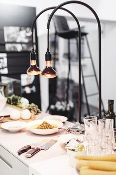 love this lamps to keep your dishes warm - design and style from a scandinavian perspective