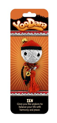 YooDara Good Luck Charms - Zen gives you the wisdom to balance your life with harmony and peace. #voodoo doll #string doll