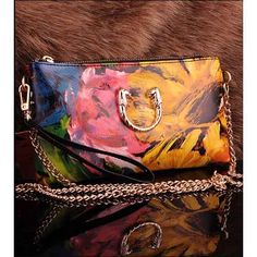 Vintage design women's leather #clutch evening bags