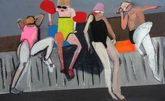 """Saatchi Art Artist Agata Żychlińska; Painting, """"swimming pool"""" #art"""