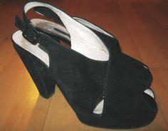 * * * SANDRO VICARI Plateau-Sandaletten schwarz, Gr.38 * * *