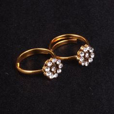 Toe Ring with AD stones - WJ0054  Bridal Jewellery  Toe Rings