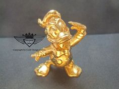 Donald Duck 24 Karat vergoldet.Gold, Gold Plating, 24 K, Vergoldet, Elektro Plating