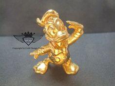 Donald Duck 24 Karat vergoldet.Gold, Gold Plating, 24 K, Vergoldet, Elektro Plating