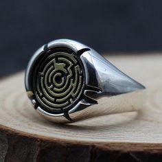 Men's Sterling Silver Maze Wrap Ring