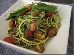 Zucchini Pasta with Sweet Pepper Marinara