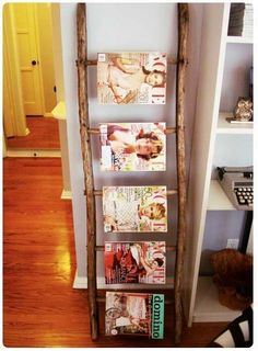 Great idea to display magazines! Ideas and inspiration for organizing products and tools in the salon. Salon Organization | Salon Design | Organization Tips
