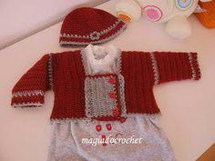 Magia do Crochet: Crochet para bebé, casaquinhos e boinas