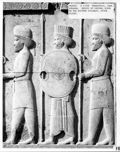 Persepolis, Iran, Apadana, E Stairway, Detail of Central Scene. The Oriental Institute, Univ. of Chicago