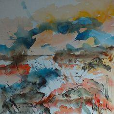 "Jac Volbeda  Painting ""Baleshare 3"" #volbeda #art   100 x 100 cm"