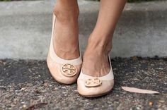 Nude Tory Burch flats. Loved them in Ingrid Nilsens Videos... wish I had the money.