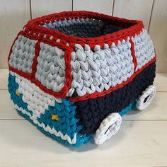 VW Minibus #pólófonal#horgolás#tshirtyarn#Vwmicrobus#crochet