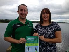Niall Clancy of Mullaghmore Tri Club with Eimear Keon of Erne Enterprise Development Company.