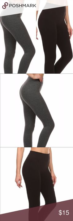 ❄️FLEECE LEGGINGS❄️ 🍂Love these! They are fleece lined, super soft and have a wide waist band to keep the tummy flat 🙌🏼👍🏽. Available in both black and grey. Super stretchy and seamless and will pair with all your fall sweaters and boots🍂 ✨S/M up to size 6 L/XL up to size 10✨65%Polyester 30%Cotton 5%Spandex✨ Pants Leggings