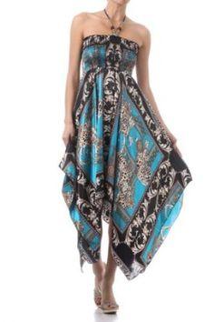 Sakkas Greek Leopard Inspired Print Satin Feel Halter Smocked Bodice Dress Sale: $29.99