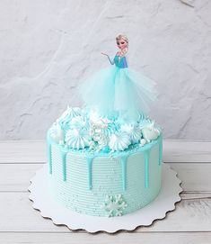Elsa Birthday Cake, Frozen Themed Birthday Cake, Disney Frozen Birthday, Cute Birthday Cakes, Themed Cakes, Disney Frozen Cake, 4th Birthday, Turtle Birthday, Turtle Party