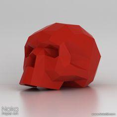 Human Skull - 3D papercraft model. Downloadable DIY template by NokaPaperArt on Etsy https://www.etsy.com/listing/194118155/human-skull-3d-papercraft-model