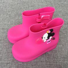 2018 Mini Melissa Mickey Rain Boots Cartoon Jelly Boots Mickey Minnie Children  Rain Boots Baby Boots d2c19ce44736