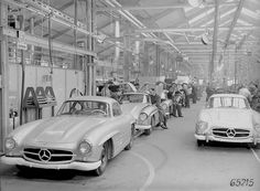 1955 Mercedes-Benz 300SL (W198) Assembly line | by Auto Clasico