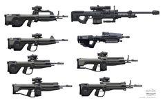 Battle Rifle Concepts + Sniper Rifle & Assault Rifle