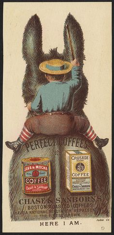 Where's the boy? Here I am. Perfect coffees. [back] by Boston Public Library, via Flickr