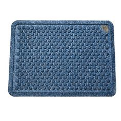 Dr. Doormat Antimicrobial Treated Doormat 18-Inch by 24-Inch, Peacock Blue by Dr. Doormat. $29.99. Elegant bubble pattern scrapes dirt and grit off shoes while removing moisture at the same time. Doormat is framed with a raised, inch wide border that forms a tray trapping water and dirt. Durable, flexible, industrial strength, rubber backing with molded rubber nibs reduces mat movement. Allergy friendly, made in the USA, washable. Surface area is made of the highest quality...