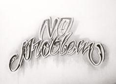 No problem! Brain Tattoo, Ink, Lettering, Tattoos, Tatuajes, Tattoo, Drawing Letters, India Ink, Tattos