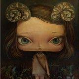 Aries by Paulina Gora Art And Illustration, Art Sketches, Art Drawings, Arte Lowbrow, Magical Paintings, Art Articles, Images And Words, Pop Surrealism, Creative Art
