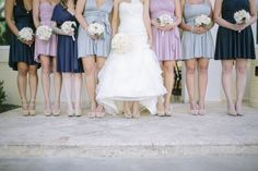 Bridesmaids in Infinity Wrap Dresses by Coralie Beatrix!