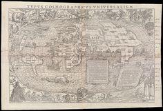 1555 Typus Cosmographicus Universalis  Holbein, Hans
