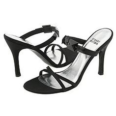 Stuart Weitzman - Charlotte (Black Satin) - Footwear -  Stuart Weitzman  Charlotte (Black Satin)  Footwear 6pm.com is proud to offer the Stuart Weitzman  Charlotte (Black Satin)  Footwear: This super-sexy slide sandal in satin is perfect for any elegant affair. ; Swarovski crystals adorn the instep strap. ; Leather lined...