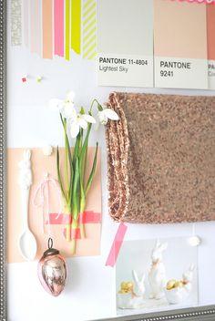 Easter inspiration board with washi tape  Dekortapaszos inspirációs tábla