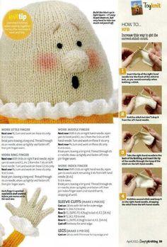 Photo Teddy Bear Knitting Pattern, Animal Knitting Patterns, Christmas Knitting Patterns, Animal Patterns, Simply Knitting, Easy Knitting, Knitting Stitches, Knitting Toys, Knitted Animals