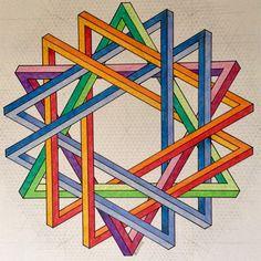 #impossible #isometric #geometry #symmetry #pattern #handmade #mathart #regolo54 #oscarreutersvärd #Escher #opticalillusion #triangle