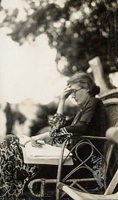 Portrait of Virginia Woolf, by Lady Ottoline Morrell,1926