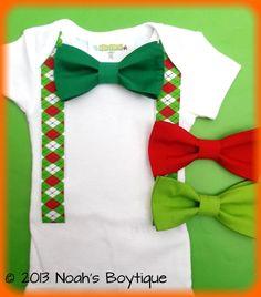 7da5fe9ac7d Christmas Outfit - Baby Boy - First Christmas Outfit Boy - Christmas Argyle  Suspenders - Christmas Holiday Outfit - Newborn Christmas by Noahs Boytique