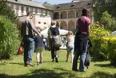 Visitatori a Villa Nigra durante Menta e Rosmarino