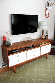 Mid-Century Dresser turned TV Console