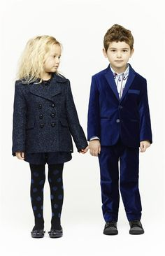 perfectly coordinated sibling holiday outfits (Little Marc Jacobs)