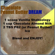 Holy Smokes, Peanut Butter Chocolate with a Vanilla Bean twist!  DELICIOUS!  Try this Vanilla Shakeology Recipe!  http://www.sbpwb.blogspot.com
