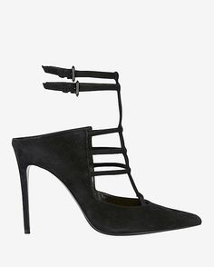 Barbara Bui Pointy Toe Ankle Strap Pump: Pointy toe. Adjustable buckle ankle strap. In ...