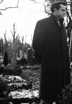 Orson Welles on the set of The Third Man (1949), photographed by Ernst Haas.