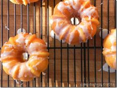 Orange yogurt mini bundt cakes just bought a mini bundt loaf pan ... and these will be the first cakes I make!