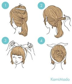 These cute hairstyles are so simple to do and can be done in just minutes! So easy hairstyles are the way forward. Cute Quick Hairstyles, Braided Hairstyles For Black Women, Step By Step Hairstyles, Hairstyles For School, Hairstyles Haircuts, Pretty Hairstyles, Top Braid, Asian Hair, Dream Hair