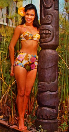 Hawaiian beauty, 1950's.